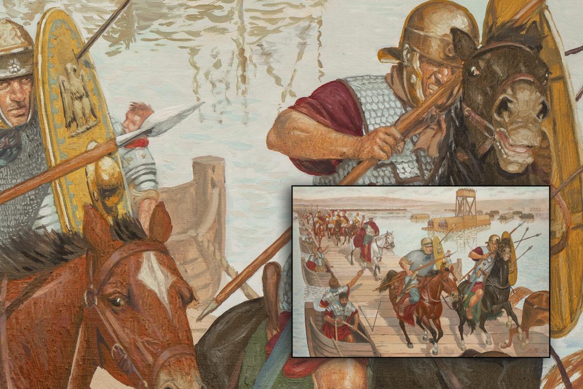 mirk_one_quadro_giuseppe_rava_L-Imperatore-Traiano attraversa-il-Tigri-1a