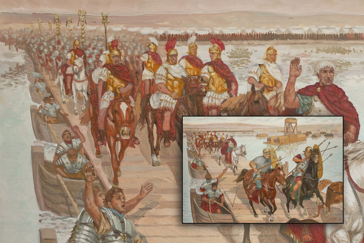 mirk_one_quadro_giuseppe_rava_L-Imperatore-Traiano attraversa-il-Tigri-2a