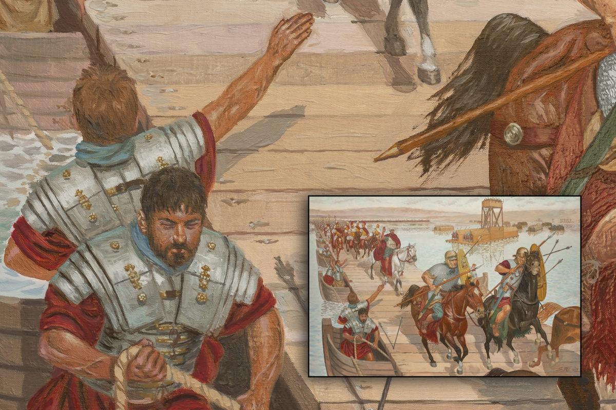 mirk_one_quadro_giuseppe_rava_L-Imperatore-Traiano attraversa-il-Tigri-3a